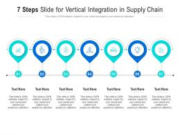 7 Steps Slide For Vertical Integration In Supply Chain Infographic Template