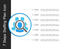7 Steps Staffing Plan Icon