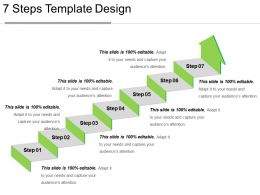7 Steps Template Design Ppt Summary