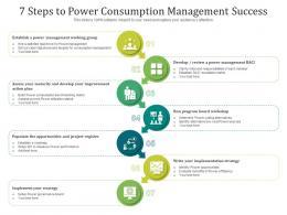 7 Steps To Power Consumption Management Success