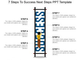 7 Steps To Success Next Steps Ppt Template