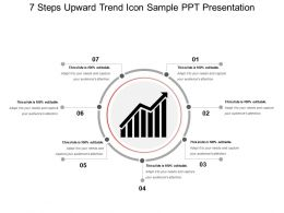 7 Steps Upward Trend Icon Sample Ppt Presentation