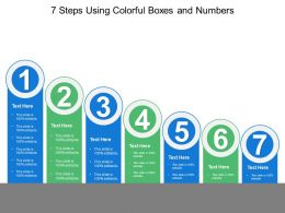 7 Steps Using Colorful Boxes And Numbers