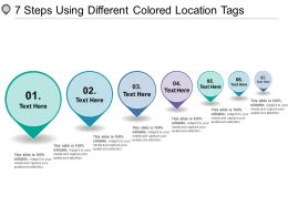 7 Steps Using Different Colored Location Tags