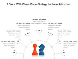 7 Steps With Chess Piece Strategy Implementation Icon