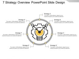 7 Strategy Overview Powerpoint Slide Design