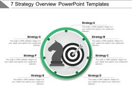 7 Strategy Overview Powerpoint Templates