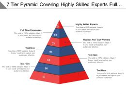 7 Tier Pyramid Covering Highly Skilled Experts Full Time Employees And Modular Workers