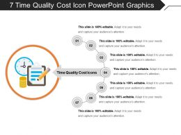 7 Time Quality Cost Icon Powerpoint Graphics