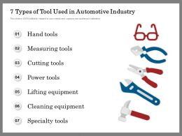 7 Types Of Tool Used In Automotive Industry