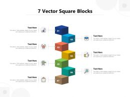 7 Vector Square Blocks