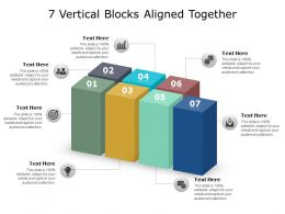 7 Vertical Blocks Aligned Together