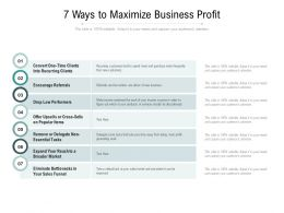 7 Ways To Maximize Business Profit