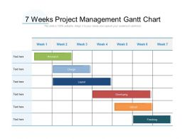 7 Weeks Project Management Gantt Chart
