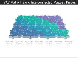 7x7 Matrix Having Interconnected Puzzles Pieces