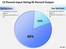80 20 Rule 15 Percent Input Giving 85 Percent Output Powerpoint Diagram Templates Graphics