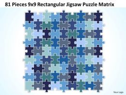 81 Pieces 9x9 Rectangular Jigsaw Puzzle Matrix Powerpoint templates 0812