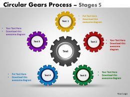 87 Circular Gears Flowchart Process Diagram Stages 5