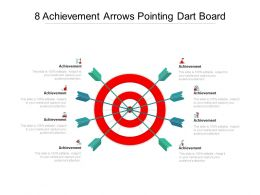 8 Achievement Arrows Pointing Dart Board