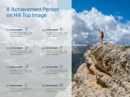 8 Achievement Person On Hill Top Image