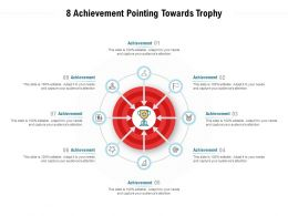 8 Achievement Pointing Towards Trophy