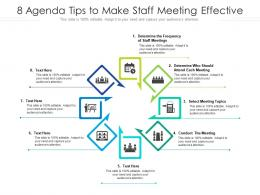 8 Agenda Tips To Make Staff Meeting Effective
