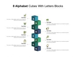 8 Alphabet Cubes With Letters Blocks