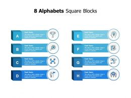 8 Alphabets Square Blocks