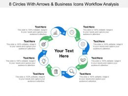 8 Arrows And Business Icons Workflow Analysis