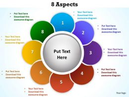 8 aspects shown by flower petals powerpoint diagram templates graphics 712