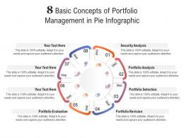 8 Basic Concepts Of Portfolio Management In Pie Infographic