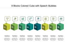 8 Blocks Colored Cube With Speech Bubbles