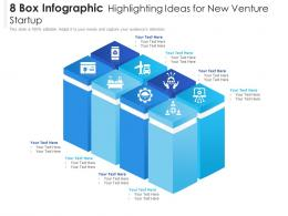 8 Box Infographic Highlighting Ideas For New Venture Startup