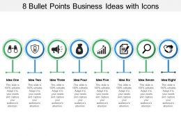 8 Bullet Points Business Ideas With Icons