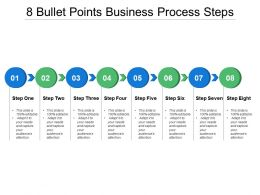8 Bullet Points Business Process Steps