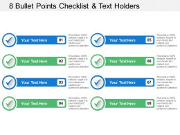 8 Bullet Points Checklist And Text Holders