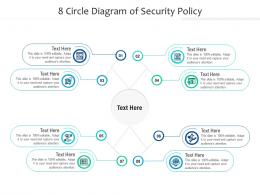 8 Circle Diagram Of Security Policy Infographic Template