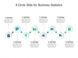 8 Circle Slide For Business Statistics Infographic Template