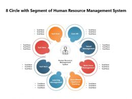 8 Circle With Segment Of Human Resource Management System