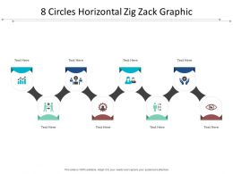 8 Circles Horizontal Zig Zack Graphic
