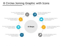 8 Circles Joining Graphic With Icons