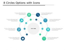 8 Circles Options With Icons