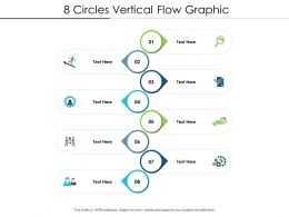 8 Circles Vertical Flow Graphic