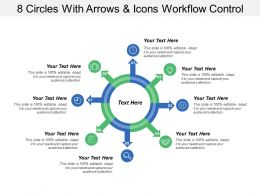 8 Circles With Arrows And Icons Workflow Control