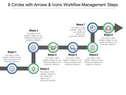 8 Circles With Arrows And Icons Workflow Management Steps