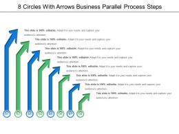 8 Circles With Arrows Business Parallel Process Steps