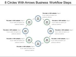 8 Circles With Arrows Business Workflow Steps