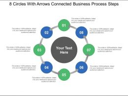 8 Circles With Arrows Connected Business Process Steps