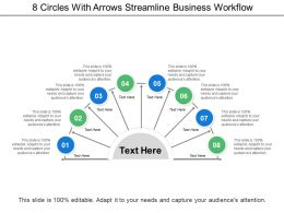 8 Circles With Arrows Streamline Business Workflow