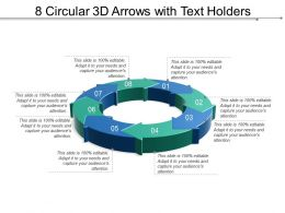 8 Circular 3d Arrows With Text Holders
